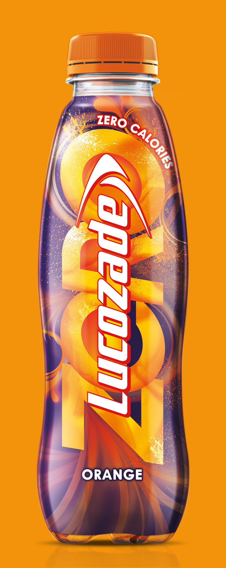 Lucozade Zero Orange Bottle