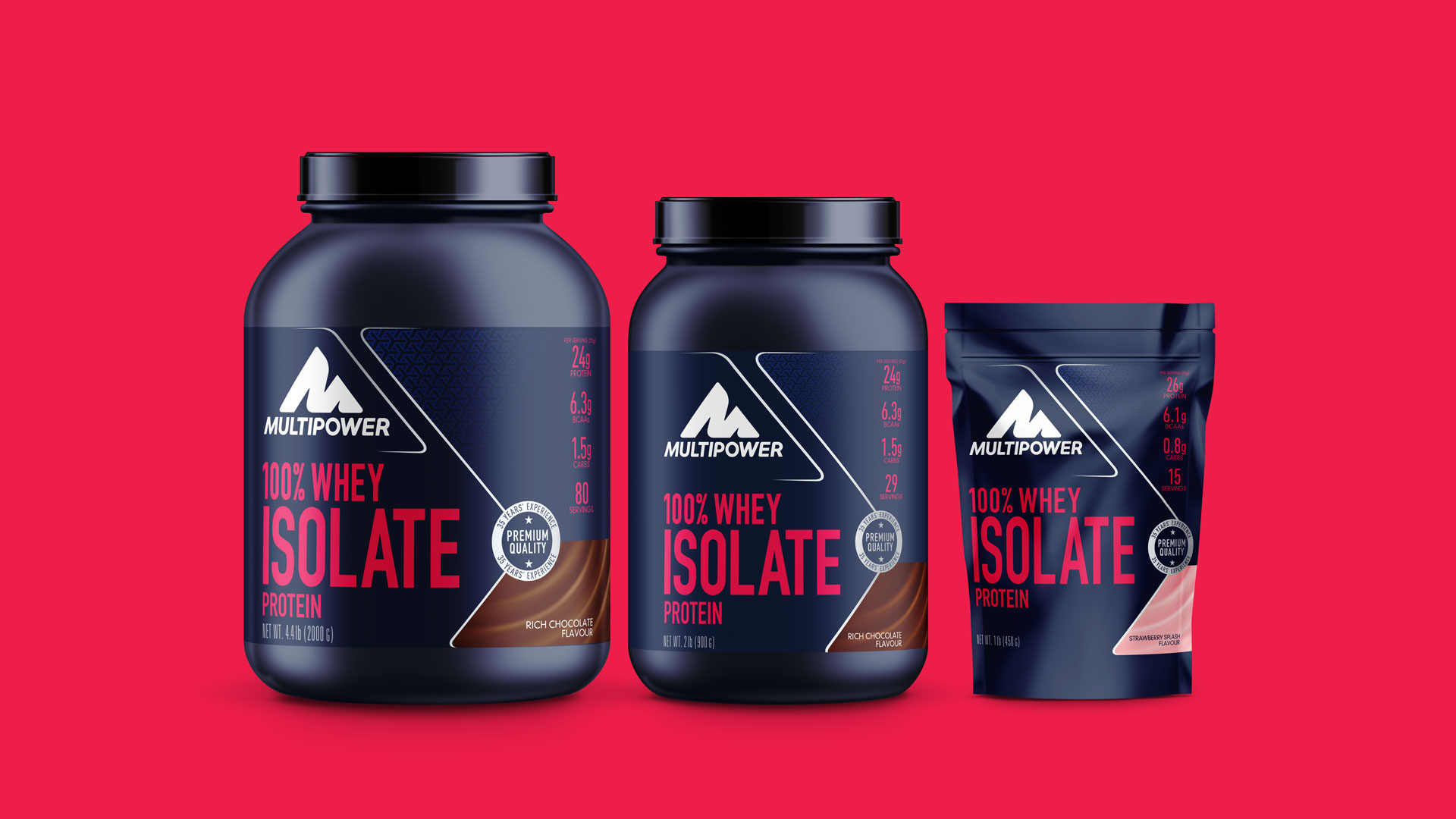 Multipower Whey Isolate Protein Packaging Design