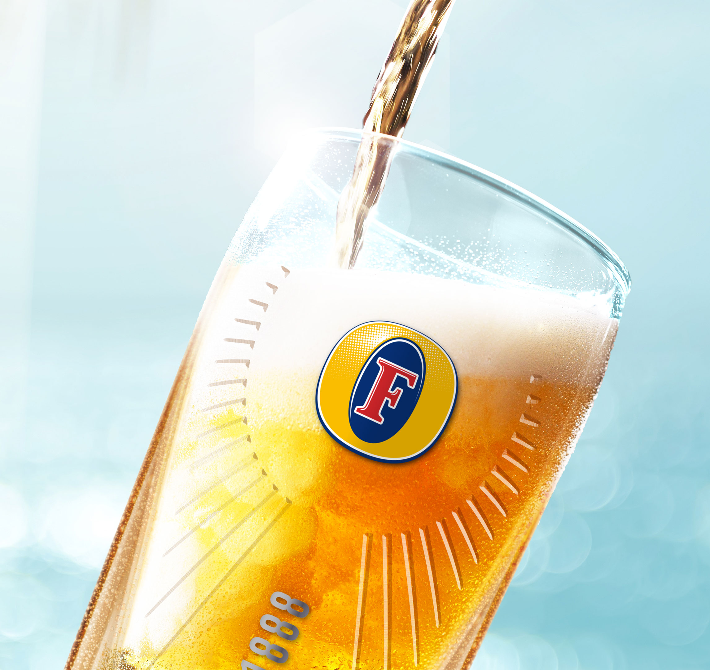 Foster's Beer Glass Design