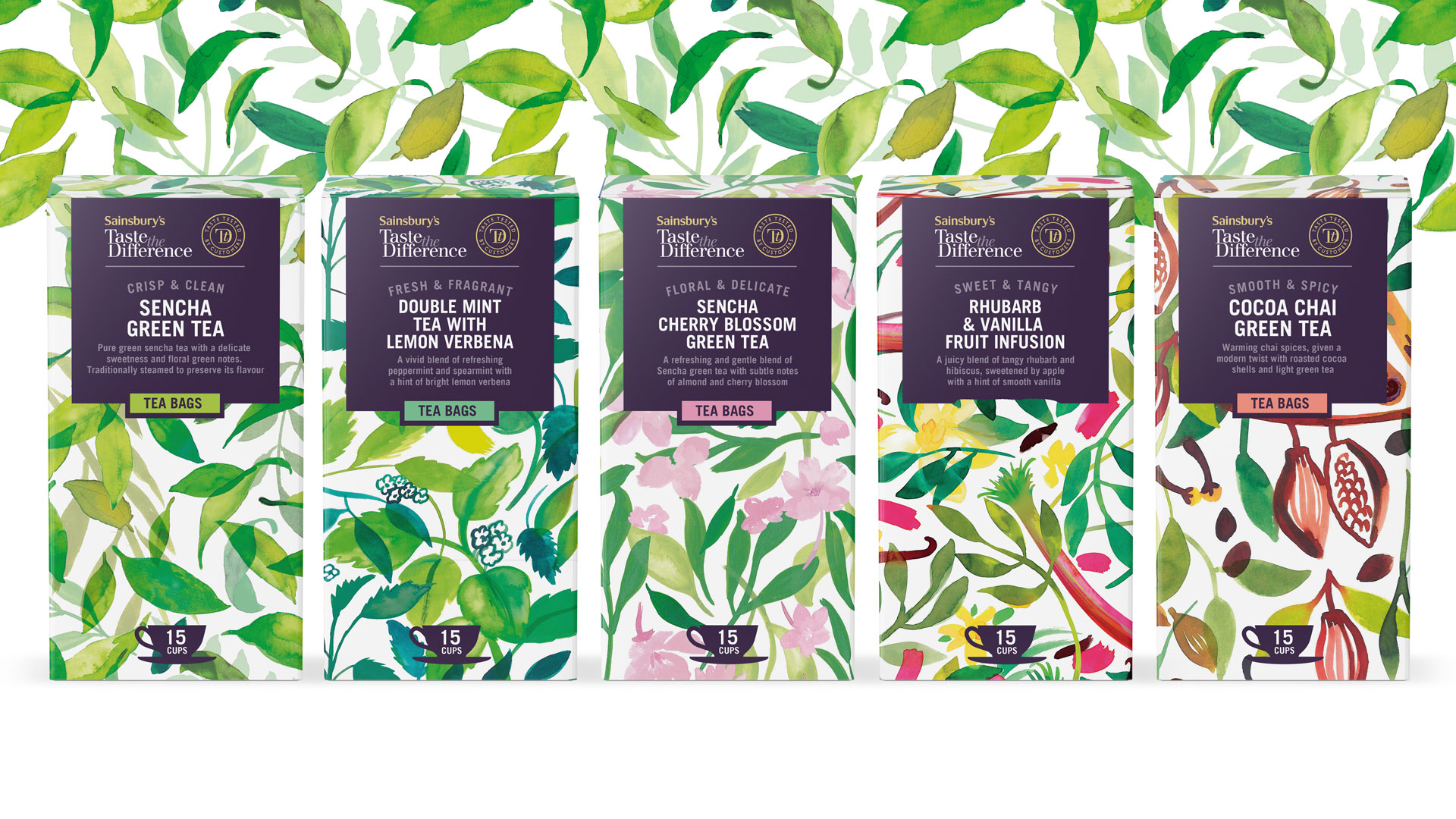 Sainsbury's Taste the Difference Tea & Infusion Packaging